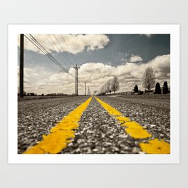 long road Art Print