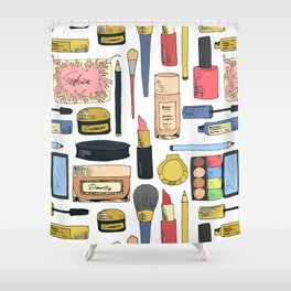 Cosmetic pattern Shower Curtain