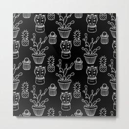 Cactus - black Metal Print