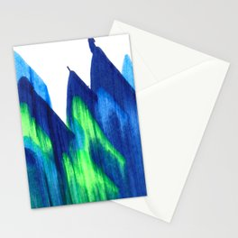 Northern Lights Abstract Painting V2 Stationery Cards