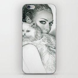 Actress with Cat iPhone Skin