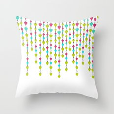 Pearl beads and hearts . Throw Pillow