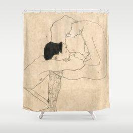 "Egon Schiele ""Lovers"" Shower Curtain"
