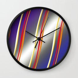 Mating Birds - Purple Wall Clock