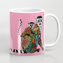 ring tailed lemur love pink Coffee Mug