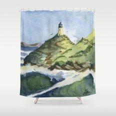 Peaceful Lighthouse V Shower Curtain
