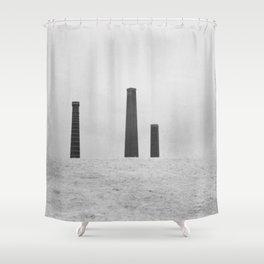 Sydney Park Smokestacks Shower Curtain
