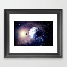 Space and Earth. Framed Art Print