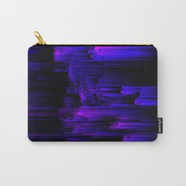 Ultraviolet Light Speed - Abstract Glitch Pixel Art Carry-All Pouch