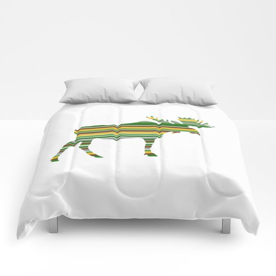 Moose - Forest Colors Comforters