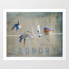 Laundry Day Let's Do Laundry Art Print