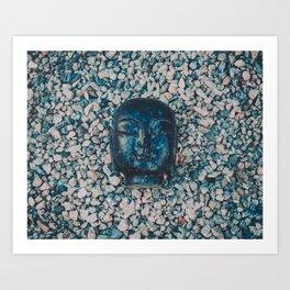 buddha head Art Print