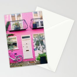 Pink in Notting Hill England Stationery Cards