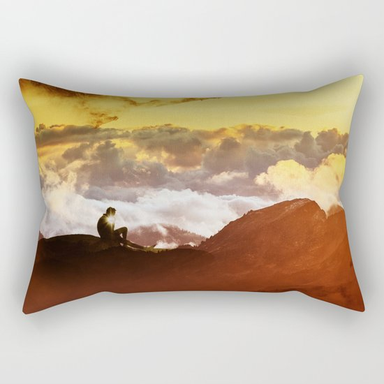 Ancient Thinker Rectangular Pillow