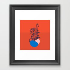 orange flamingo Framed Art Print