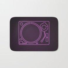 Neon Turntable 1 - 3D Art Bath Mat