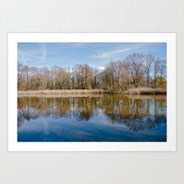 Fall Lake Reflection Art Print