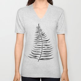 Black Palm Leaf Unisex V-Neck