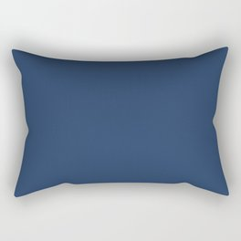 Navy Peony | Pantone Fashion Color Fall : Winter 2017 | Solid Color Rectangular Pillow