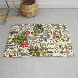 Adolphe Millot - Plantes Medicinales A - French vintage poster Rug