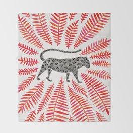 Black Jaguar – Red Leaf Palette Throw Blanket