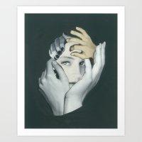 cuddle Art Prints featuring Cuddle by fabiotir