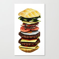 Graphic Burger Canvas Print