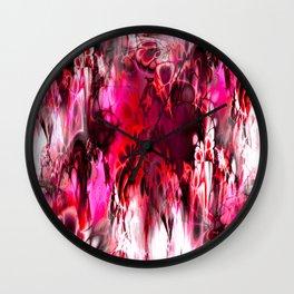Marshmellow Skies (red) Wall Clock