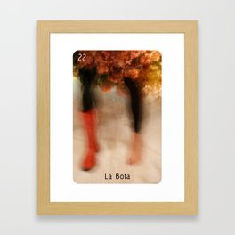 la loteria card: 22 la bota Framed Art Print