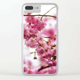 Japanese Cherry Blossoms 1 Clear iPhone Case
