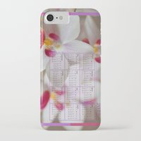 calendar iPhone & iPod Cases featuring Calendar 2015 Orchids by Lena Photo Art