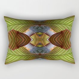 Striped Canna Lily Leaves Rectangular Pillow
