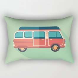 Retro Minivan Rectangular Pillow