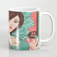 party Mugs featuring Party by Victor Beuren