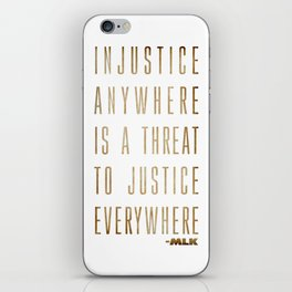 Martin Luther King Typography Quotes iPhone Skin