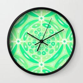 Kiwi green geometric Wall Clock