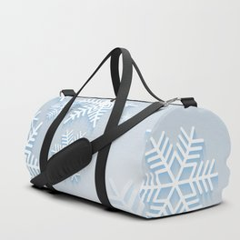 Snowflake background Duffle Bag