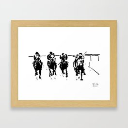Home Stretch Framed Art Print