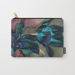 Vintage tulips(sapphire) Carry-All Pouch