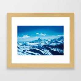 Winter Wonderland up in the Mountains #1 #art #society6 Framed Art Print