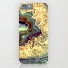 Colorful Earth Tones Quartz Crystal iPhone Case