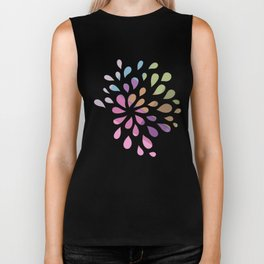 Colourful drops Biker Tank