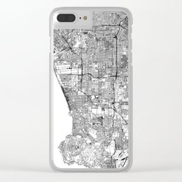 Los Angeles White Map Clear iPhone Case