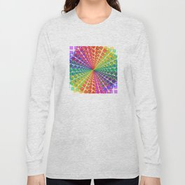 Colorful mosaic pattern design artwork- colorful christmas gifts- pixel art Long Sleeve T-shirt