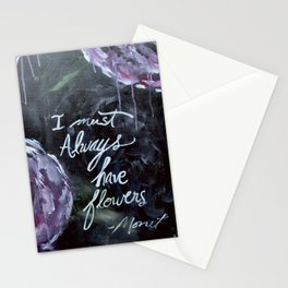 I Must Always Have Flowers Monet Stationery Cards