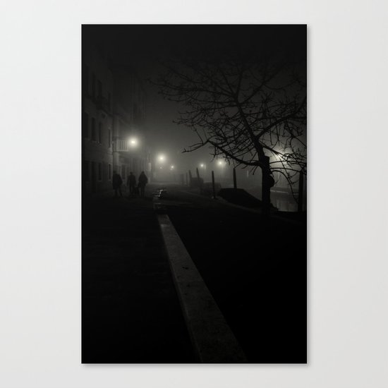 Dark night in Venice Canvas Print