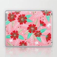 Floral Moths - Pink Laptop & iPad Skin