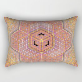Flower of Life Tesseract Rectangular Pillow