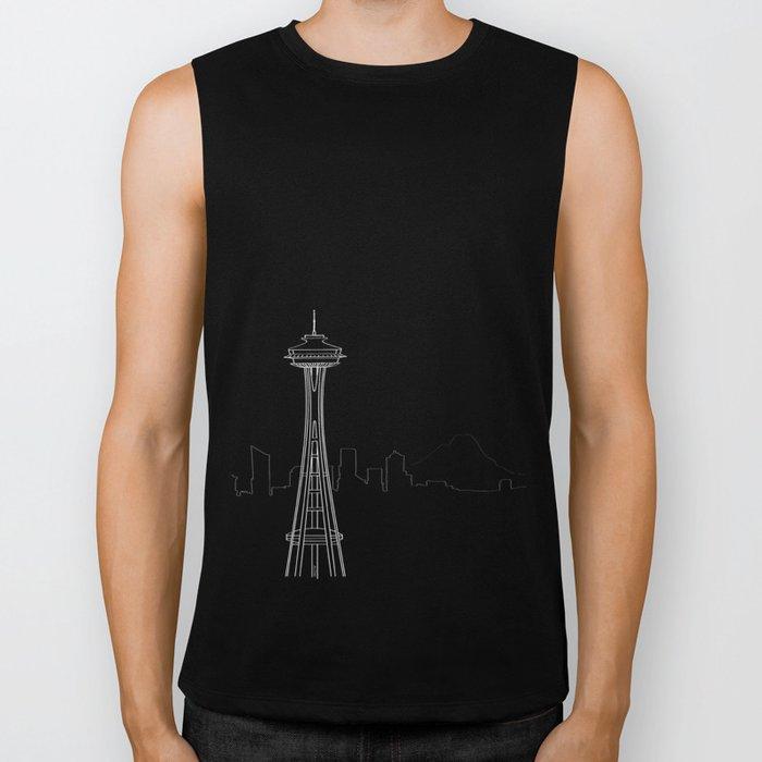 Seattle by Friztin Biker Tank