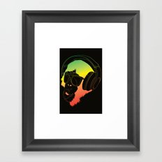 Jamin' Chimpanzie  Framed Art Print